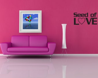 Wall Decal Seed Of Love Inspirational Quotes Wall Decals Wall Sticker Wall Quote Decal (V398)