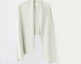 White pure cashmere long shawl / Ready to ship cashmere shawl / Pure cashmere scarf / Pure cashmere / Shawl / Scarf / Winter accessories