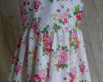 Girls Rose and Strawberry Dress (Age 3-4)