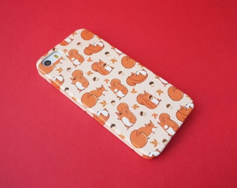 Red Squirrels Cute Autumn Fall Squirrel Patterned iPhone SE / 5 / 5S Case
