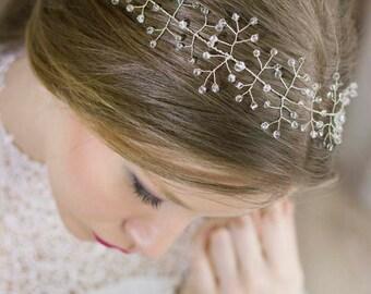Wedding Crystal Crown,Bridal Crystal Tiara,Wedding Crystal Hair Vine,Bridal Hair Crown,Wedding Silver Crown,Wedding Crystal Headpiece