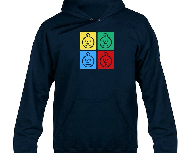 Ashens Colour Onion Squares Hoody Hoodie Hooded Sweater
