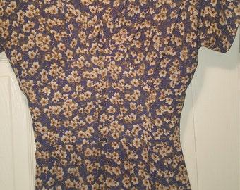 Vintage 90's Robbie Bee Floral Pattern Maxi Dress