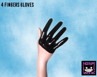 Four fingers latex gloves