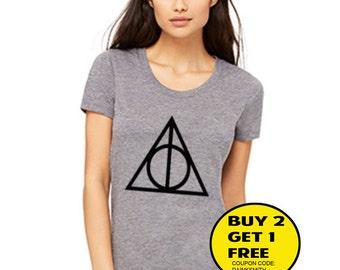 Deathly Hallows  shirt Women and Men Clothing T-shirt tank top unisex size S M L XL