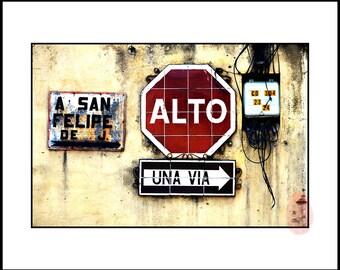 Urban Street Wall Art Photography Decor, Printable Abstract Wall Art Instant Download, Latin America Wall Print Photograph, Digital Print