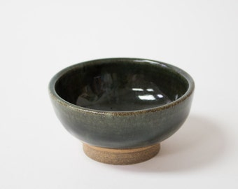 Forest Green Ceramic Bowl