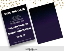Star Wars Save the Dates, Star Wars Theme Weddings, Disney Wedding Announcement - PRINTABLE - Download