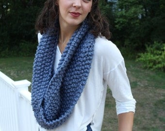 """Infinity Scarf, Heather Blue """"The Emily"""""""