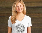 Adult Coloring Book T-Shirt - Womens Floral