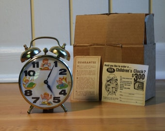 Rare Vintage Robert Shaw double bell windup Lux Alarm Clock 1960s  NEW IN BOX