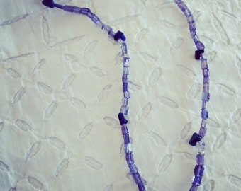 Necklace with pendant and amethysts