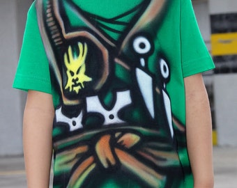 Green NINJA T-shirt |Ninjago Lloyd t-shirt |Warrior T-SHIRT |Airbrushed t-shirt |Ninjago birthday party gift for boy and girl |Personalized