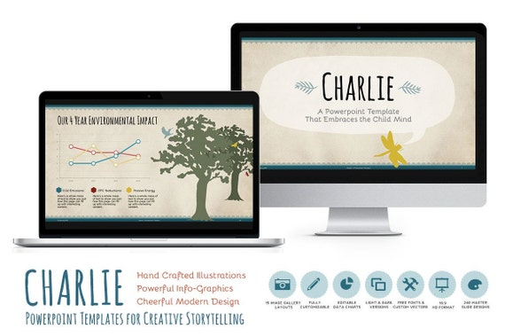 charlie powerpoint template for classroom presentations. Black Bedroom Furniture Sets. Home Design Ideas