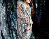 bohemian clothing - wrap cardigan - wrap coat - cardigan  - loose knit - oversized - sale