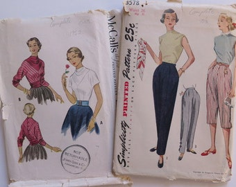 Vintage Sewing Patterns, 1950's Vintage Sewing Patterns, Sewing Patterns