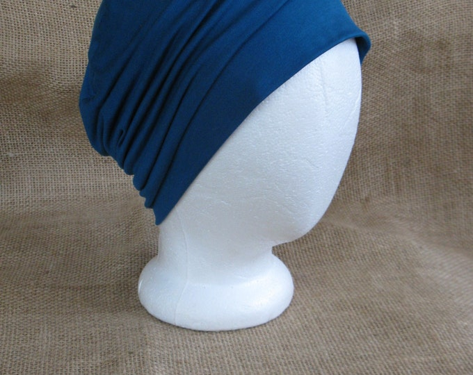 Bamboo Chemo Cap - Dark Teal Chemo Hat Womens Beanie Slouch Hat Cancer Headwear