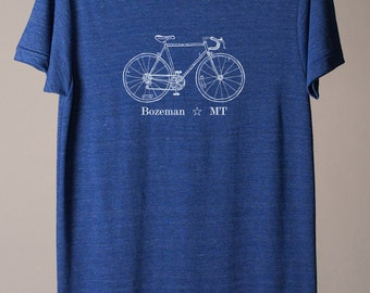 Bozeman Montana tshirt, Bozeman tshirt, cycling tee, city bike tee, bicycle