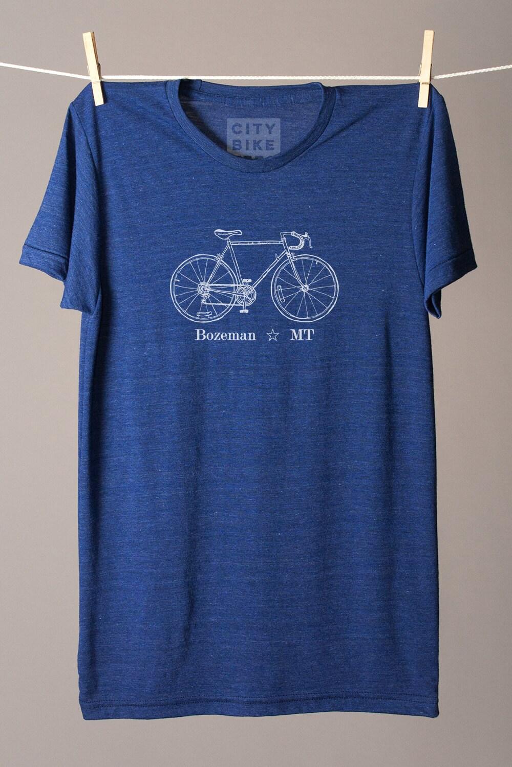 Bozeman Montana Tshirt Bozeman Tshirt Cycling Tee City Bike