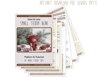 Pdf teddy bear pattern - Bear PDF Tutorial - PDF Pattern - Teddy Bear Sewing Pattern - Instant Download PDF Pattern - Sewing diy