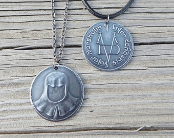 Valar Morghulis Necklace Game of Thrones Jewelry Game of Thrones Gift Game of Thrones Men's Gift Women's Gift Arya Valar Morghulis Coin