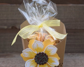 Sunflower Party Favor, Sunflower Wedding, Sunflower Party Decor, Sunflower Baby Shower, Sunflowers, Sunflower Fry Box, (Set of 12)