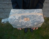 Toiletry Kit: Army ACU/choice of accent color