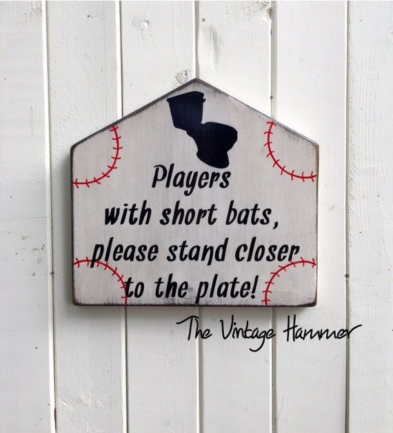 Bathroom Sign Sayings baseball sign bathroom sign wood sign sayings boys room