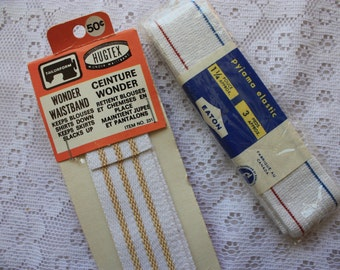 Set of two vintage sewing elastic waistband