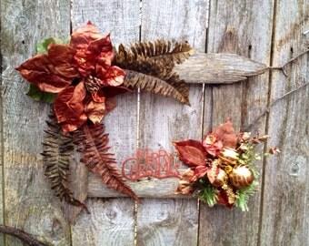 Christmas/Holiday weathered wood frame/sign