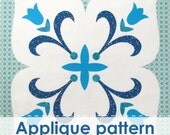FLORAL ORNAMENT Applique pattern. Applique template. PDF applique pattern