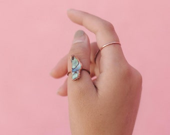 Abalone Ring // Copper Ring // Shell Ring // Electroformed Ring // Imagination Ring // Boho Jewelry