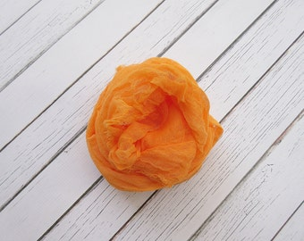 Newborn Cheesecloth Wrap, Orange Baby Cheesecloth Wrap, Maternity Cheesecloth Wrap