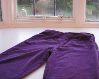 Crolla British Designer Vintage Purple Trousers