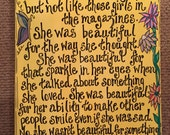 She Was Beautiful--Hand-painted Art