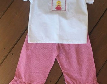 Smocked Sleeping Beauty Set