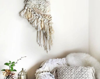 Tassle and Twine, Woven Wall Hanging, Tapestry, Weaving