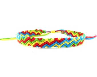 Red, Green, Yellow And Blue Friendship Bracelet