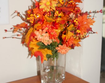 Fall Table Decoration, Fall Floral Arrangement