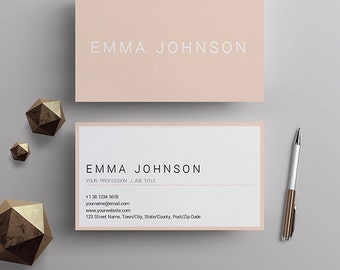 Professional Business Card Template, Printable Business Cards, Premade Business  Card Design, Matching Resume  Resume Business Cards
