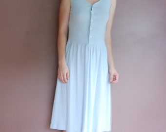 Light Blue Cotton Liz Claiborne Sun Dress