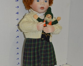 Molly~ Irish Lass with Leprechaun~ By Kathy B. Hippensteel ~Porcelain