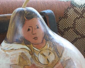 Original Gourd Art/ Southwestern Art/ Handpainted Gourd/ Harvest Decor