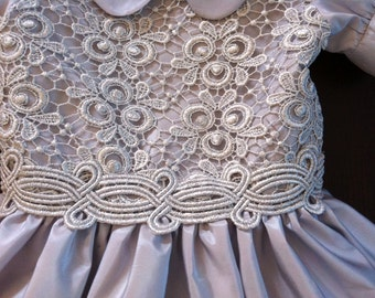 Silver dress child 3 years-by Baby Princess Couture