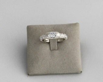 Silver 925 ‰ Solitaire ring with Cubic Zirconia (cubic zirconia) (a band, record)