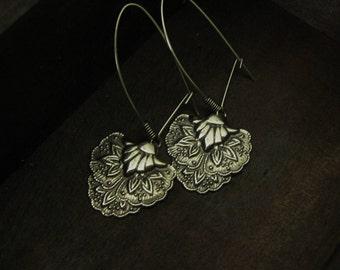 Vintage Silver Strawberry Earrings Boho Earrings Strawberries Art Deco Earrings Bohemian Jewelry Handmade Summer Earrings Fruit Earrings