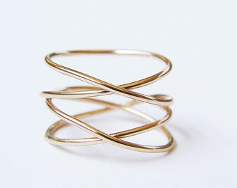SALE Infinity Gold Wrap Ring