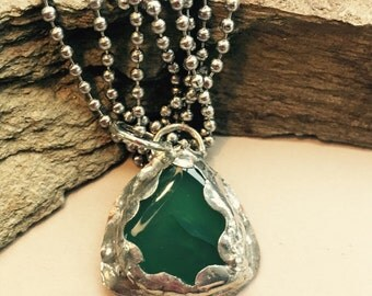 Green Aventurine Pendant Necklace