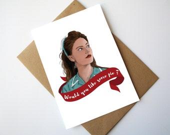 Twin Peaks Shelly Johnson Birthday Card Happy Birthday Do you want some Pie ?
