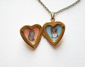 Custom Pet Portrait Necklace - Personalized Pet Portrait Jewelry - Heart Locket Pendant